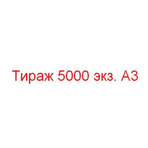 Тираж 5000 экземпляров А3