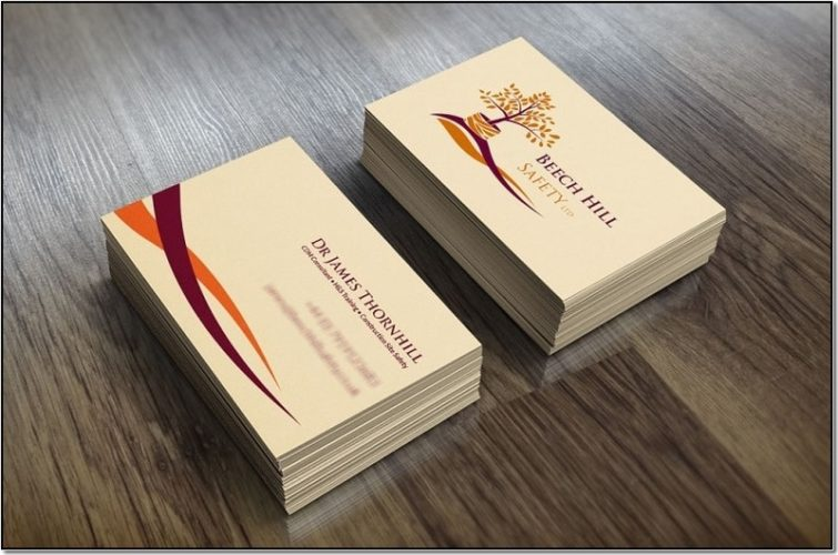 Дизайнерские визитки 90×50 мм